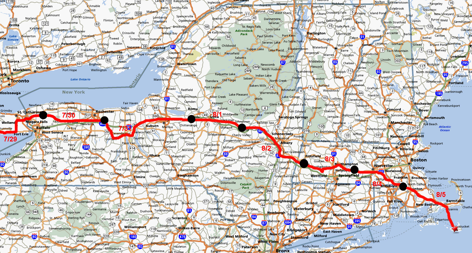 Highway Map Us Globalinterco - Us route 6 map